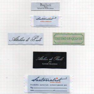 etichette tessute personalizzate altissima definizione