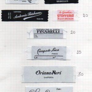 etichette tessute personalizzate